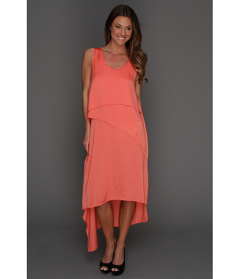 Rochii BCBGMAXAZRIA - Reese Draped Tank Dress - Coral
