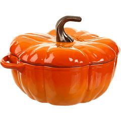 Vase Gatit Staub Cast Iron Pumpkin Cocotte 3.5 Qt Orange | mycloset.ro