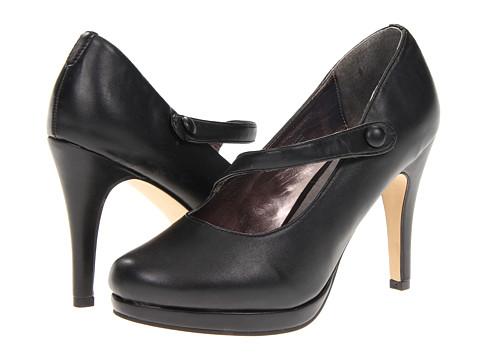 Pantofi Fitzwell - Gemma Mary Jane Pump - Black Smooth