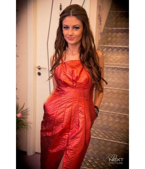 Rochii MarieBoutique - Rochie Leather Red - Rosu