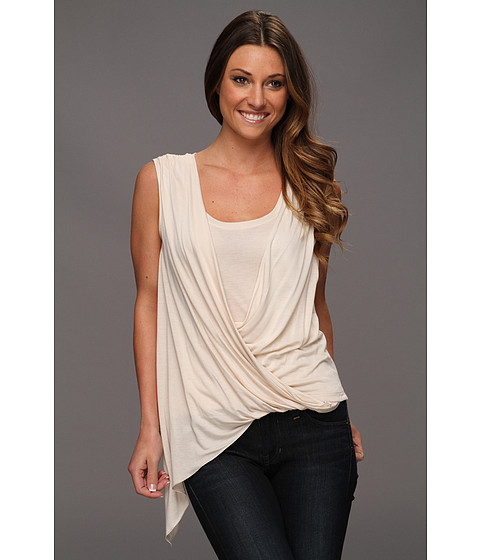 Bluze BCBGMAXAZRIA - Brooke Draped Front Top - Rose Whisper