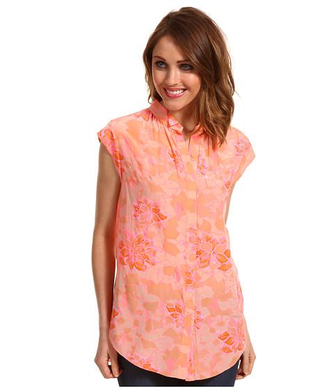 Bluze Rebecca Taylor - Hibiscus Shirt - Tangerine