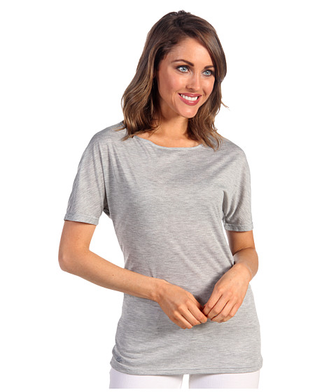 Bluze Lacoste - S/S Lightweight Jersey Boatneck Tee - Silver Grey Chine