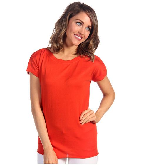 Bluze Lacoste - S/S Silk Cotton Boatneck Sweater - Colorado Orange