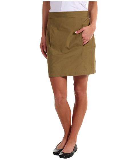 Fuste Lacoste - Lightweight Poplin Above the Knee Skirt - Incense Beige