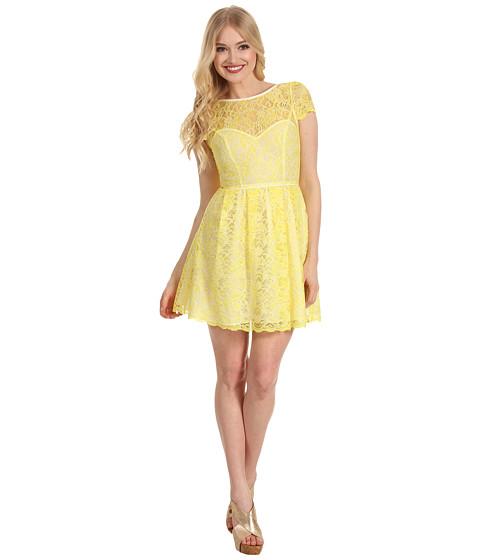 Rochii ABS Allen Schwartz - Cap Sleeve Lace Dress - Yellow