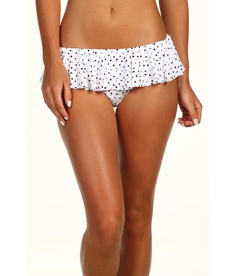 Costume de baie DKNY - Tobias Dot Flounce Skirt Bottom - White
