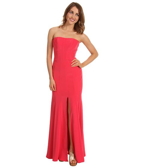 Rochii ABS Allen Schwartz - Long Strapless Gown w/Front Slit - Watermelon