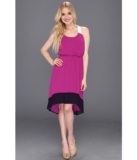 Rochii Jessica Simpson - Colorblock Dress with Crisscross Back - Cactus Flower