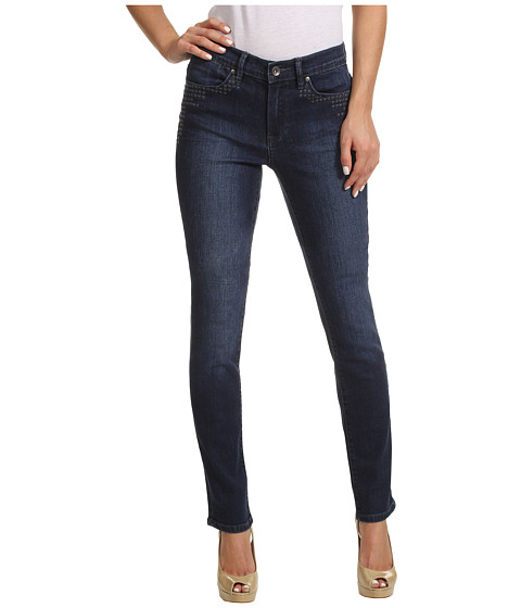Blugi Calvin Klein Jeans - Ultimate Skinny Ankle Roll w/ Embroidery in Dark Wash - Dark Wash