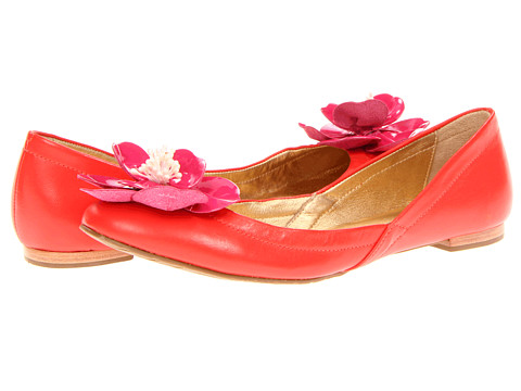 Balerini Kate Spade New York - Twill - Red Nappa/Pink Patent Flower