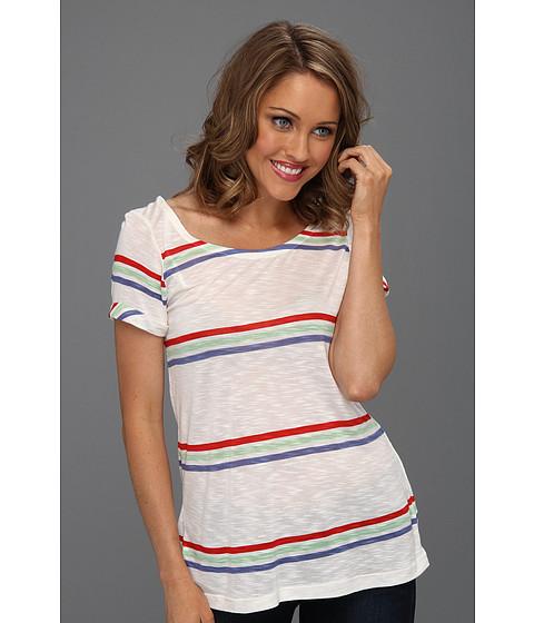 Bluze Splendid - Hermose Slub Stripe Scoop Back Tee - Soft White