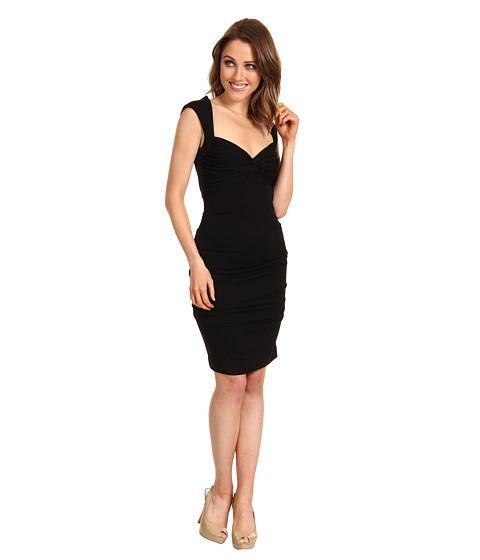 Rochii Nicole Miller - Felicia Matte Jersey Dress - Black