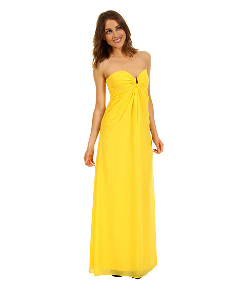 Rochii Laundry by Shelli Segal - Chiffon Gown - Canary