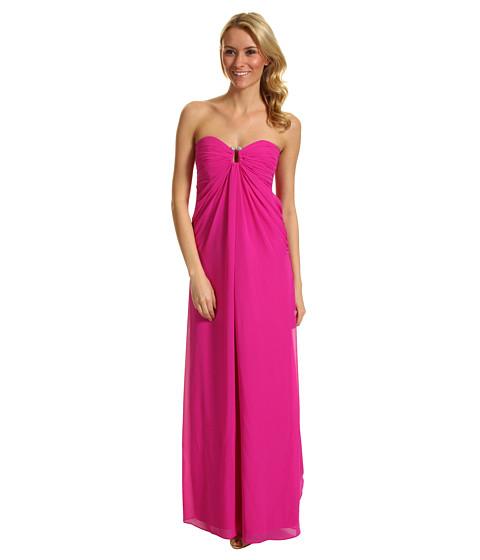 Rochii Laundry by Shelli Segal - Chiffon Gown - Shocking Pink