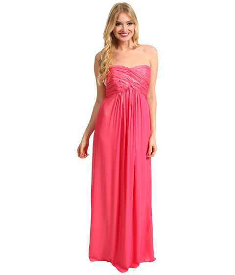 Rochii Laundry by Shelli Segal - CrissCross Shimmer Chiffon Dress - Shell Pink