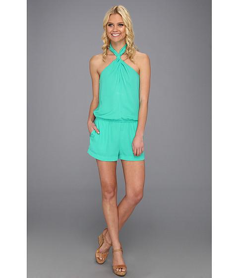 Pantaloni BCBGMAXAZRIA - Casli Crossover Halter Jumpsuit - Emerald