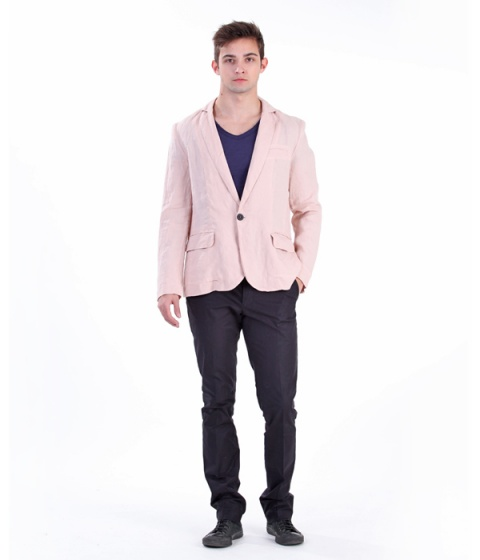 Sacouri Be You - Sacou roz din in - Multicolor