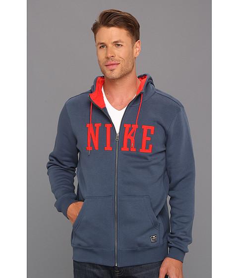 Bluze Nike - Northrup Heritage Full-Zip Hoodie - Squadron Blue/Pimento