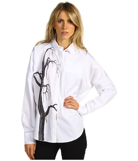 Camasi Costume National - Shirt - White/Black