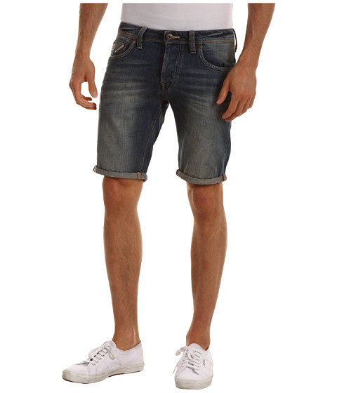 Pantaloni G-Star - Attac Low Tapered Short in Volt Denim Medium Aged - Volt Denim Medium Age