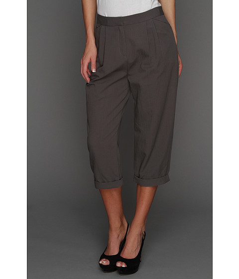 Pantaloni Halston Heritage - Relaxed Fit Cropped Pant - Lead