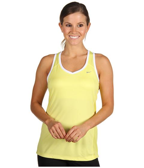 Tricouri Nike - Miler Tank - Electric Yellow/Electric Yellow/White/Metallic Red Bronze