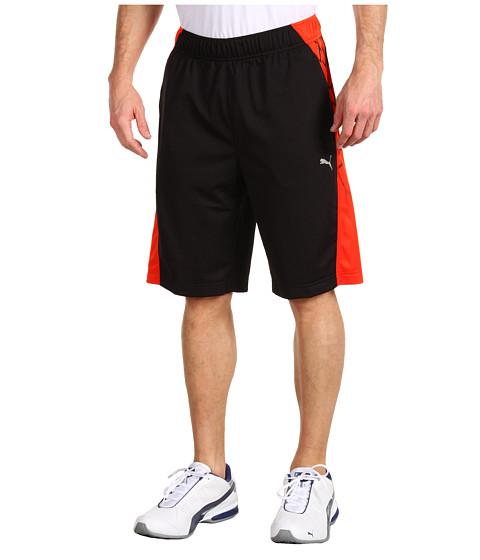 "Pantaloni PUMA - 10\"" BIO WEB Training Short - Black/Miami Red"
