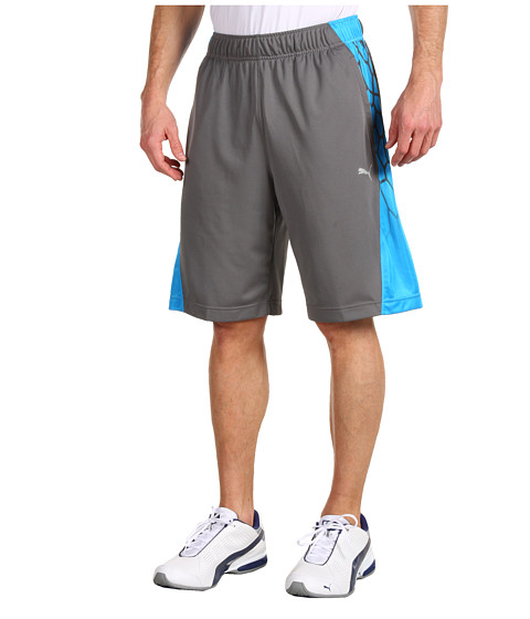"Pantaloni PUMA - 10"" BIO WEB Training Short - Quiet Shade/Malibu Blue"