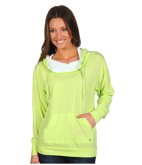 Bluze PUMA - Light Weight Cover Up Pullover Hoodie - Sharp Green/White