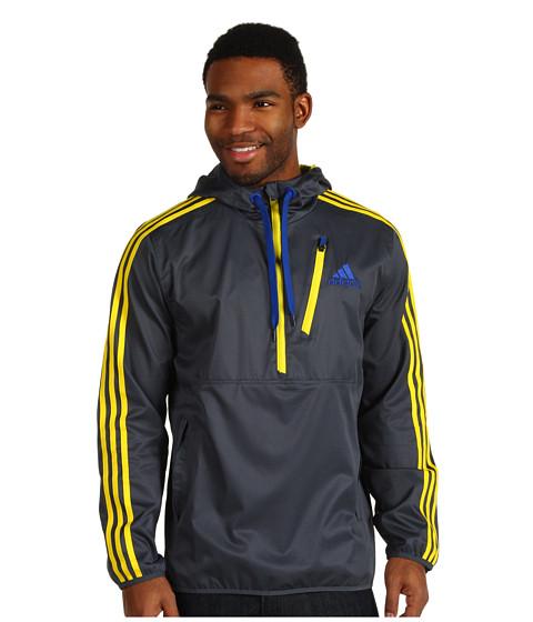 Bluze adidas - Ultimate Woven Half-Zip Hoodie - Dark Onix/Vivid Yellow/Collegiate Navy