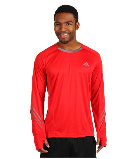 Bluze adidas - supernovaâ⢠Long-Sleeve Tee - Vivid Red/Tech Grey