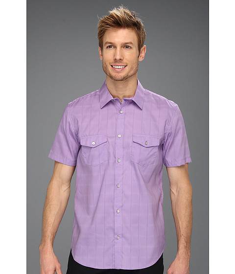 Tricouri Calvin Klein - S/S Piece Dyed Grid Check Dobby Woven Shirt - Iris