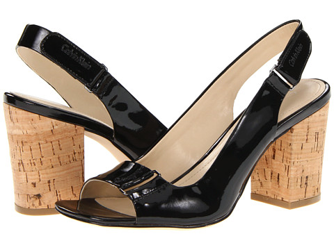 Pantofi Calvin Klein - Vina Shiny Single Patent - Black