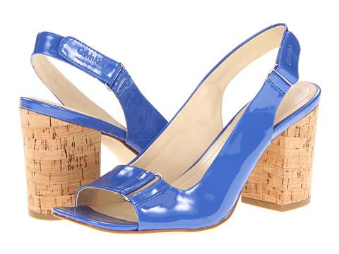 Pantofi Calvin Klein - Vina Shiny Single Patent - Bright Blue