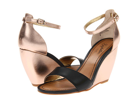 Sandale Seychelles - Thyme Leather - Black/Rose Gold