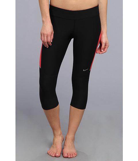 Pantaloni Nike - Filament Capri - Black/Geranium/Geranium/Matte Silver