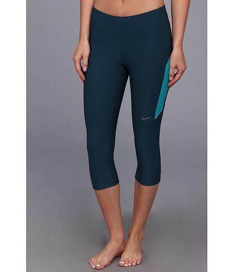 Pantaloni Nike - Filament Capri - Nightshade/Turbo Green/Atomic Mango/Matte Silver
