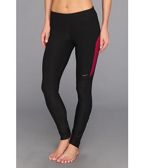 Pantaloni Nike - Filament Tight - Black/Raspberry Red/Raspberry Red/Matte Silver