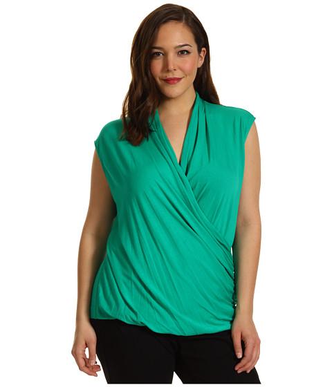 Bluze Vince Camuto - Plus Size S/L Wrap Top - Green Leaf