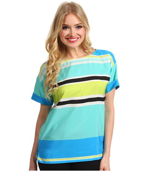 Bluze Vince Camuto - S/S Variegated Stripe Blouse - Malibu Blue