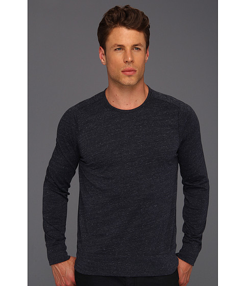 Bluze John Varvatos - L/S Saddle Shoulder Crewneck - Deep Blue