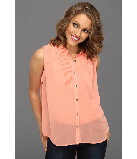 Tricouri Gabriella Rocha - Sacha Side Button Top - Coral