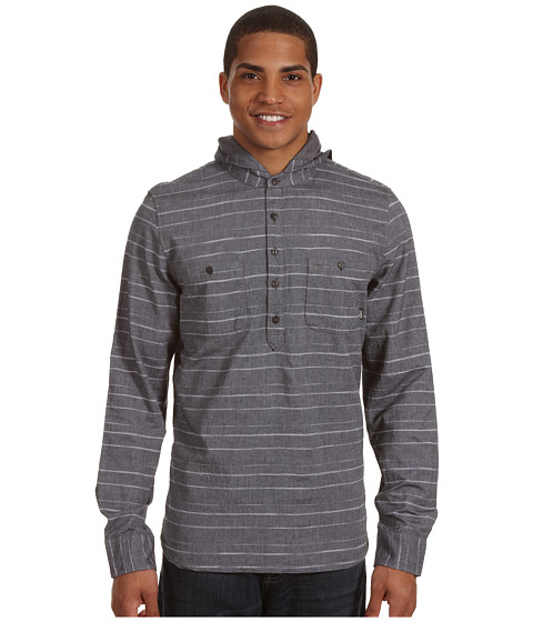 Bluze Vans - Royes L/S Hooded Woven - Charcoal