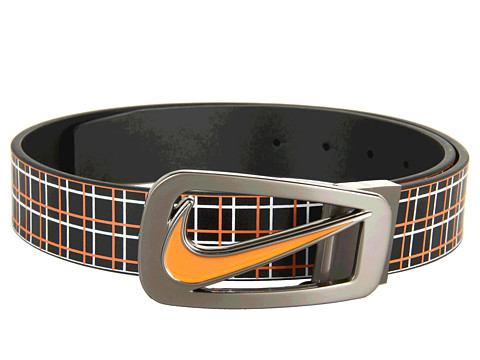Curele Nike - Cutout II Plaid Reversible - Black/Orange