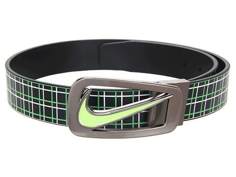 Curele Nike - Cutout II Plaid Reversible - Black/Poison Green