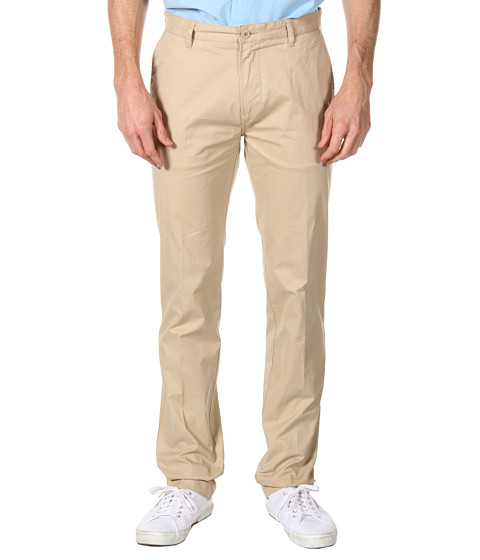 "Pantaloni Lacoste - Slim Fit Gabardine Chino 34"" - Light Coffee Macaroon"