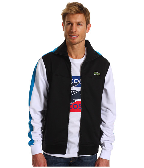 Jachete Lacoste - Andy Roddick Track Jacket w/ Colorblock Sleeves - Black/White/Barbados Blue