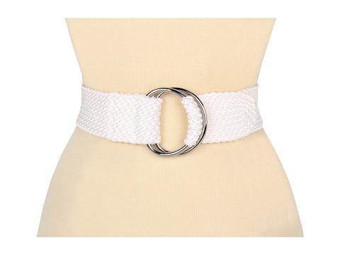 "Curele LAUREN Ralph Lauren - 2\"" Nylon Cord Belt - White 2"