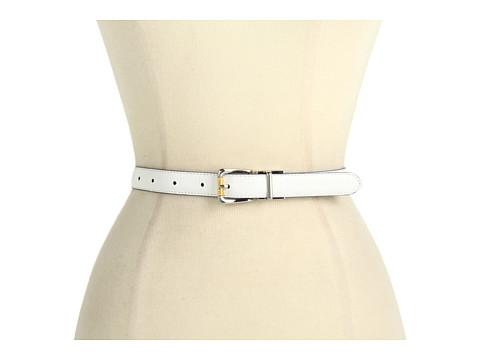 Curele LAUREN Ralph Lauren - Croc/Patent Reversible Belt w/ Two-Tone Buckle - White/Navy